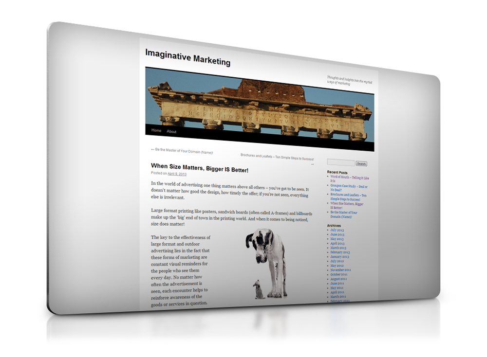 A simple blog on the globally popular wordpress framework