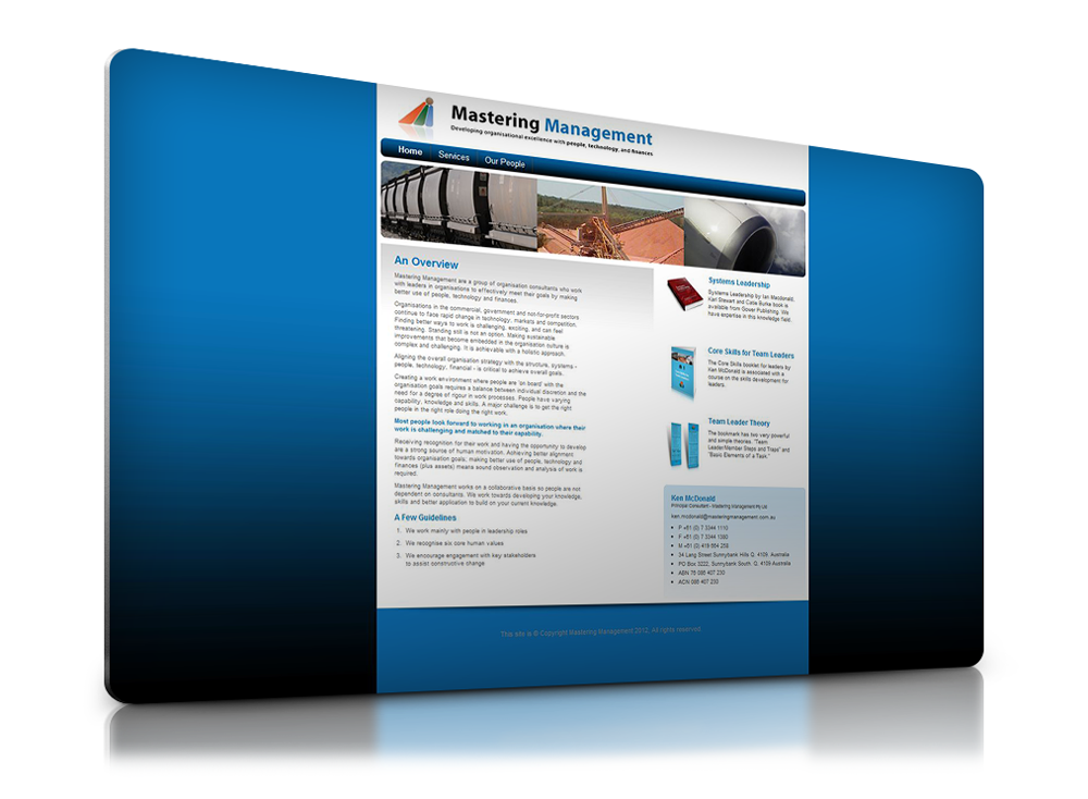 A simple static business website.