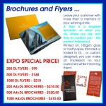 Brochures and Flyers at Brisbane Small Business Expo prices
