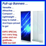 Pull-up Banners at Brisbane Small Business Expo prices