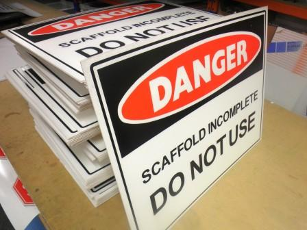 Corflute signs - practical, affordable.