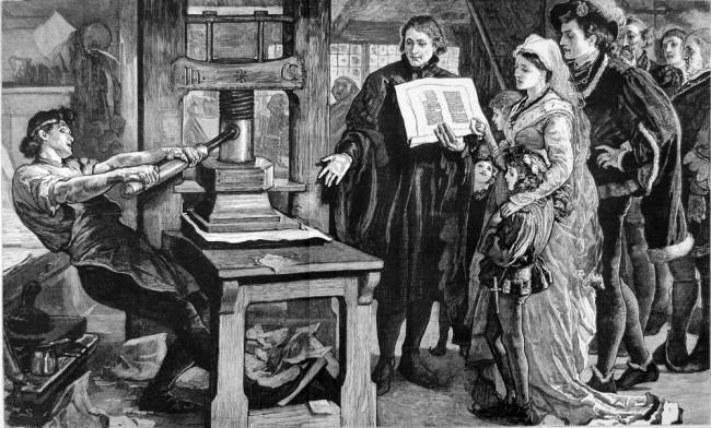 Printing press, printing, historical image